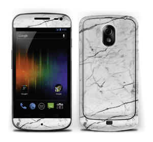 White marble skin for your Nexus, make it custom by adding your name or logo