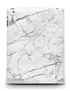 White marble skin for your IPad 4/3/2, make it custom by adding your name or logo