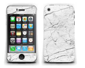 White marble skin for your IPhone 3G/3GS, make it custom by adding your name or logo