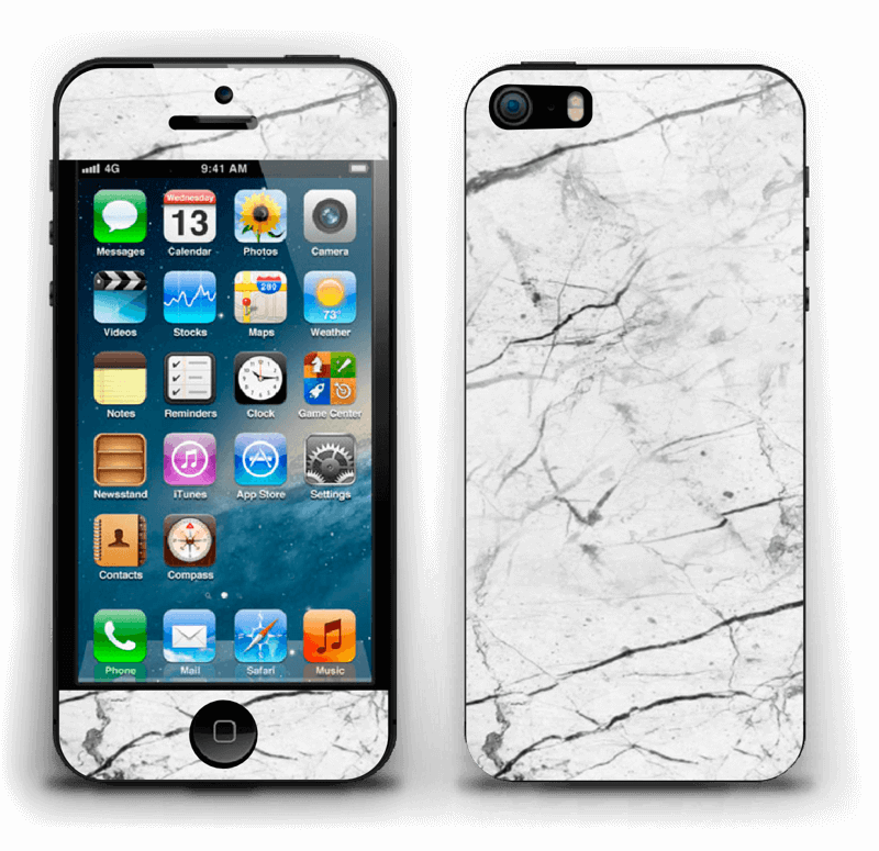 Hvit klassisk marmor Skin IPhone 5s