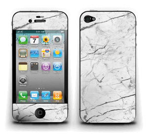 Hvit klassisk marmor Skin IPhone 4/4s