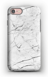 Mármore branco Capa IPhone 7 tough
