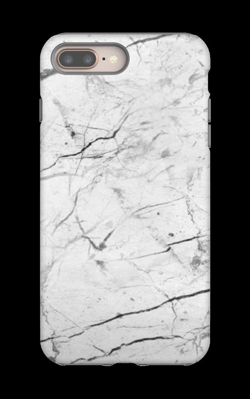 Täydellinen valkoinen kuoret IPhone 8 Plus tough
