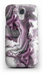 Paars patroon hoesje Galaxy S4