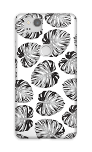 Black and white leaves waiting for a custom background colour.