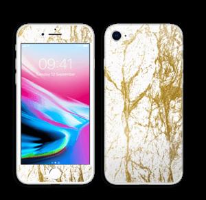 Gull og Hvitt Skin IPhone 8