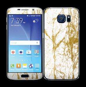 Gull og Hvitt Skin Galaxy S6