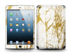 This awesome gold and white design looks perfect on a skin and also make it custom by adding your name