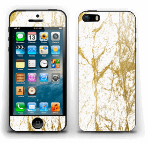 Gull og Hvitt Skin IPhone 5s