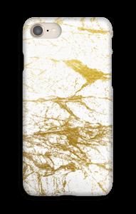 Kultainen ja valkoinen kuoret IPhone 8