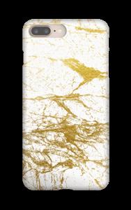 Kultainen ja valkoinen kuoret IPhone 8 Plus