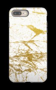 Kultainen ja valkoinen kuoret IPhone 8 Plus tough