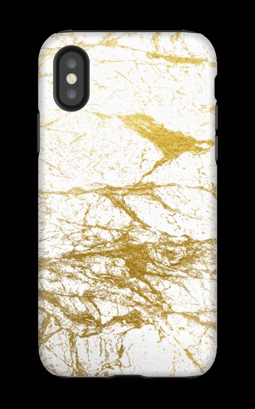 Kultainen ja valkoinen kuoret IPhone X tough