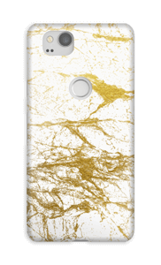 White and gold mixing to cover your case.