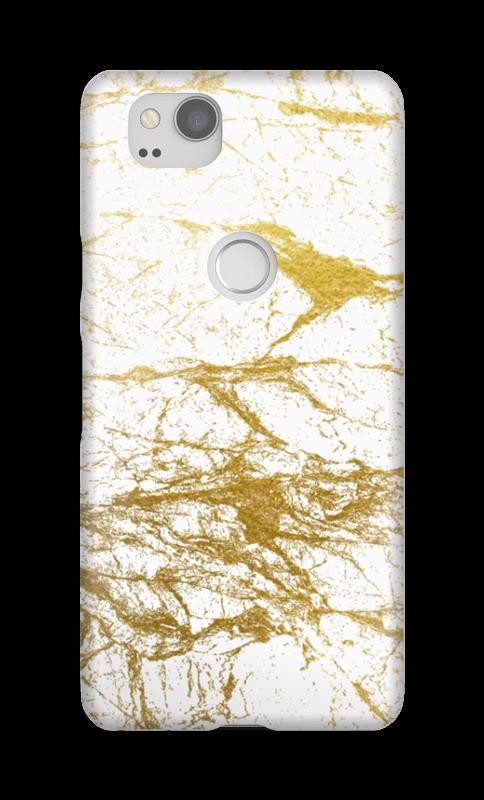 Branco e Dourado Capa Pixel 2
