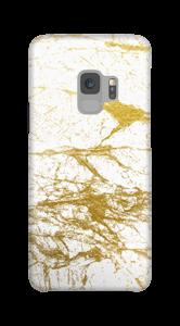Branco e Dourado Capa Galaxy S9