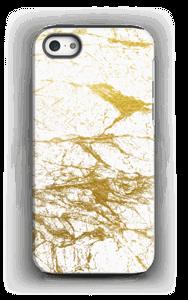 Branco e Dourado Capa IPhone 5/5s tough