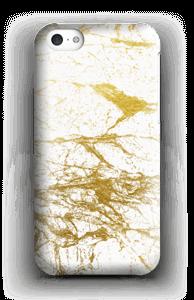 Kultainen ja valkoinen kuoret IPhone 5c