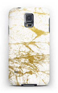 Branco e Dourado Capa Galaxy S5