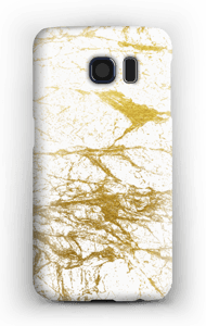 Branco e Dourado Capa Galaxy S6