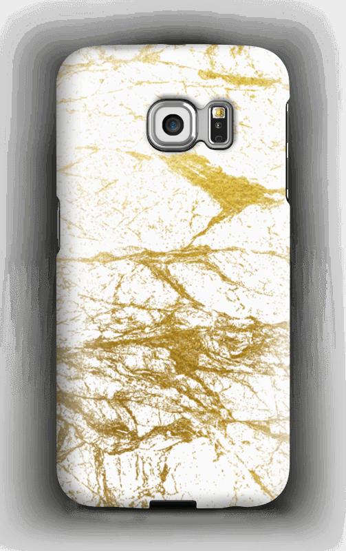 Kultainen ja valkoinen kuoret Galaxy S6 Edge