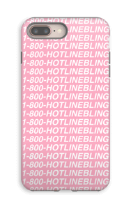 Hot Line Bling deksel IPhone 8 Plus tough