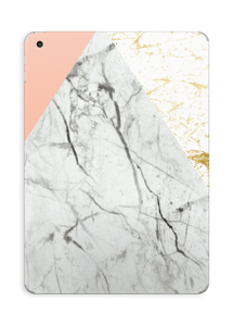 Gold, white marble and pastel skin. Such a perfect and simple match. Make it custom by adding your name or logo.