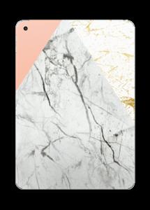 Rosa pastell, marmor och guld