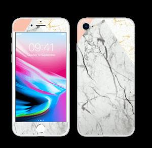 Marmor, rosa og gull Skin IPhone 8