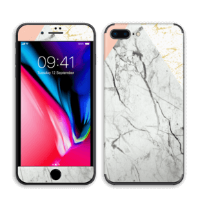 Marmor, rosa og gull Skin IPhone 8 Plus