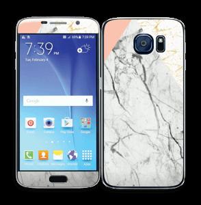 Marmor, rosa og gull Skin Galaxy S6