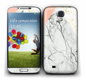 Marmor, rosa og gull Skin Galaxy S4