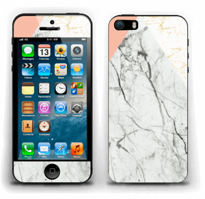 Marmor, rosa og gull Skin IPhone 5s