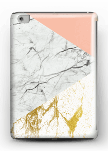 Gold, white marble, and a hint of colour.