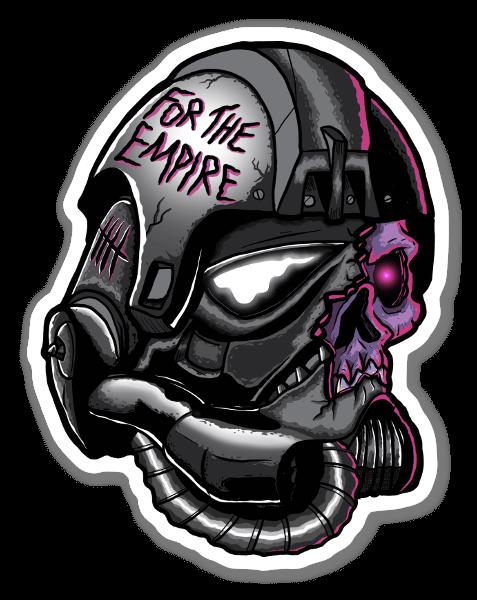 Empire skull sticker