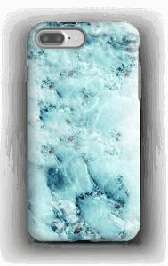 Lichtblauw marmer  hoesje IPhone 7 Plus tough