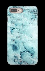 Vaaleansininen marmori kuoret IPhone 8 Plus tough