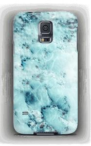 Vaaleansininen marmori kuoret Galaxy S5