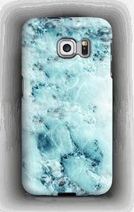 Vaaleansininen marmori kuoret Galaxy S6 Edge