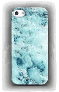 Lichtblauw marmer  hoesje IPhone SE