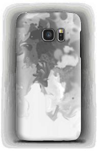 Grauer Pastellklecks Handyhülle Galaxy S7