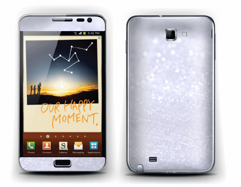 Paillettes Skin Galaxy Note