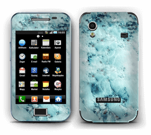 Blå iset marmor Skin Galaxy Ace