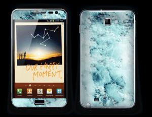 Blå iset marmor Skin Galaxy Note