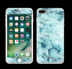 Blå iset marmor Skin IPhone 7 Plus