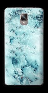 Blå iset marmor Skin OnePlus 3