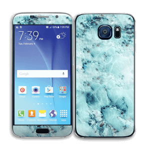 Blå iset marmor Skin Galaxy S6