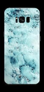 Blå iset marmor Skin Galaxy S8 Plus