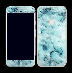 Blå iset marmor Skin Pixel