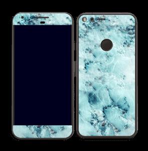 Marbre bleu Skin Pixel XL